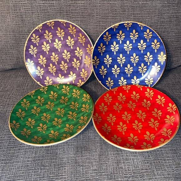 Pier 1 Imports Festive porcelain appetizer plates